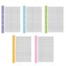 Wkład do segregatora A5/50k kratka mix kolorów